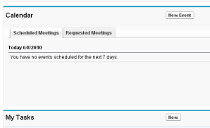 View meeting request status in your HOME TAB!!!